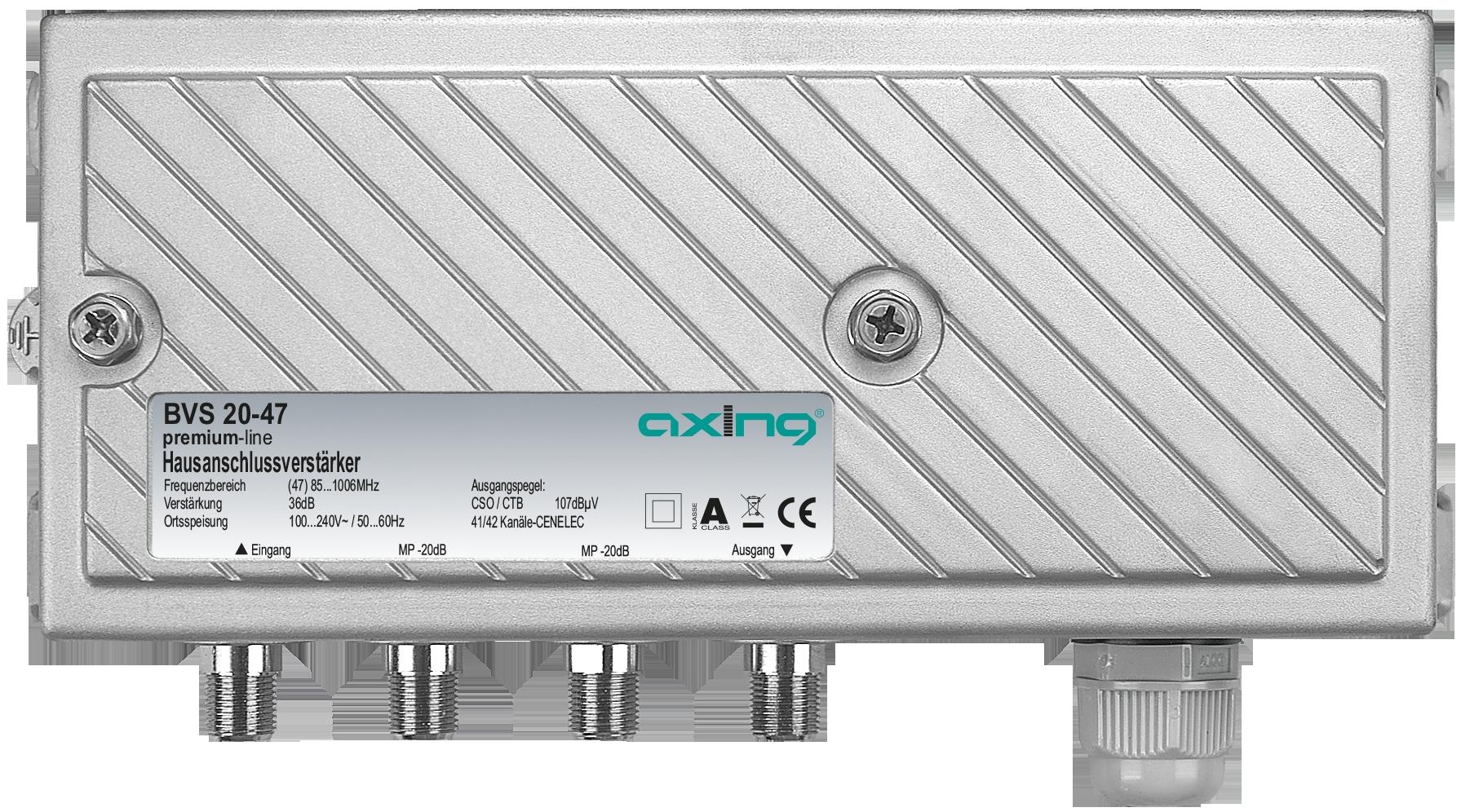 BVS 20-47 CATV amplifier 36 dB | 107 dBµV CSO/CTB - AXING AG